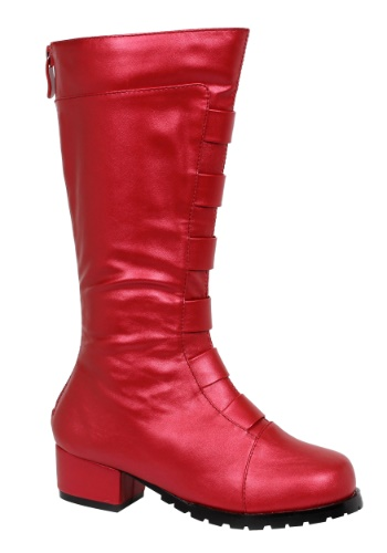 Kid's Red Deluxe Superhero Boots By: Ellie for the 2015 Costume season.