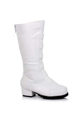 Image of Kid's White Deluxe Superhero Boots