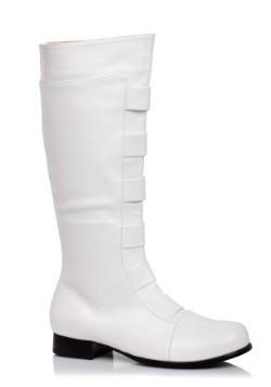 Adult White Superhero Boots