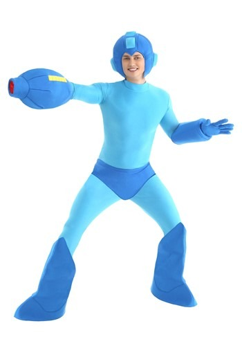 Click Here to buy Adult Mega Man Costume from HalloweenCostumes, USA Funds & Shipping