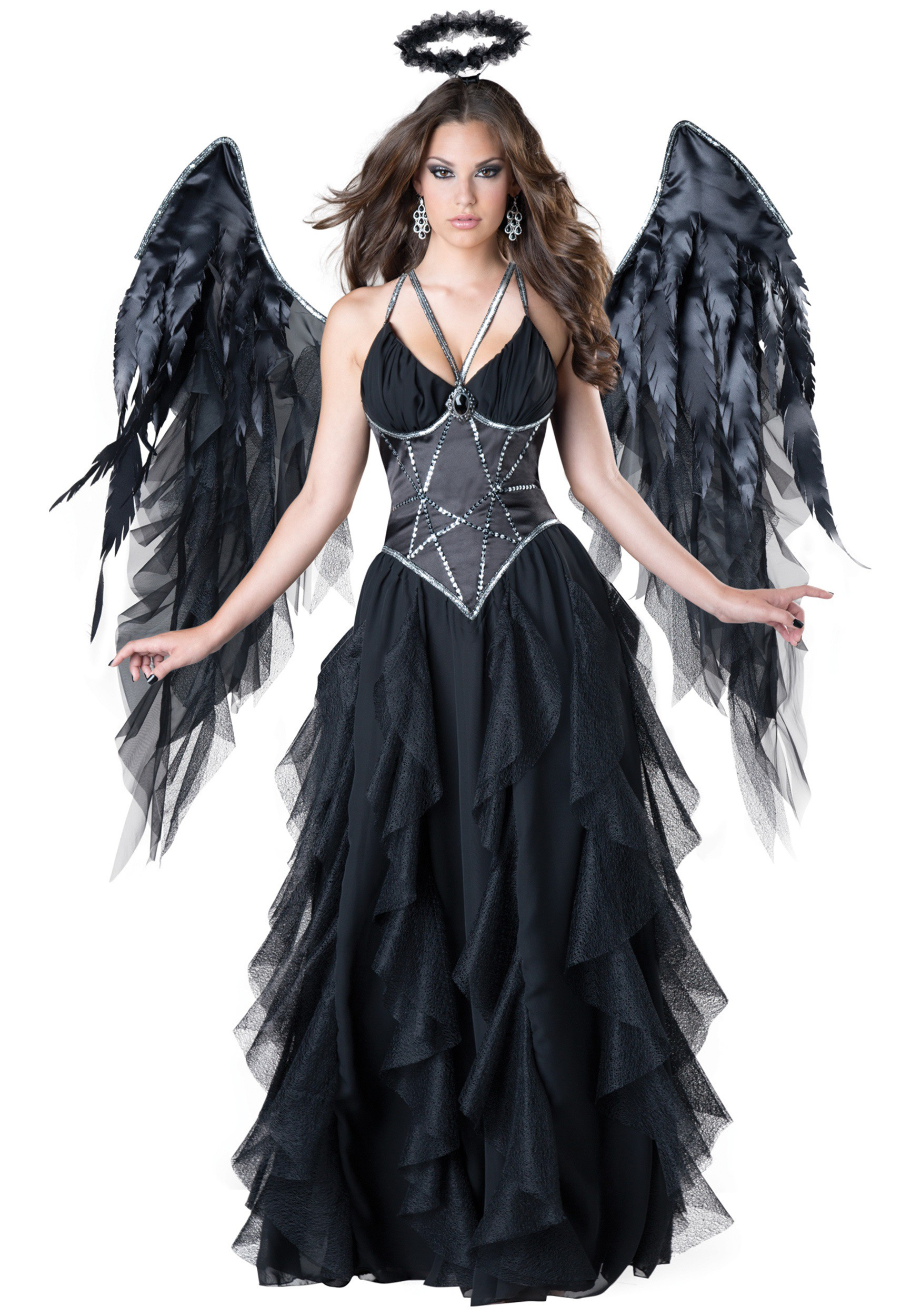 Women 39 s dark angel costume - Deguisement horreur femme ...