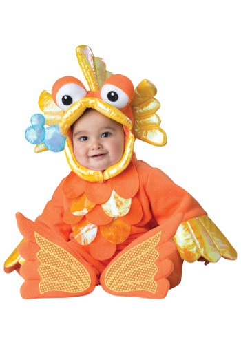 Click Here to buy Baby/Toddler Giggly Goldfish Costume from HalloweenCostumes, CDN Funds