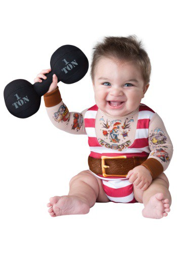 Click Here to buy Baby & Toddler Silly Strongman Costume from HalloweenCostumes, CDN Funds