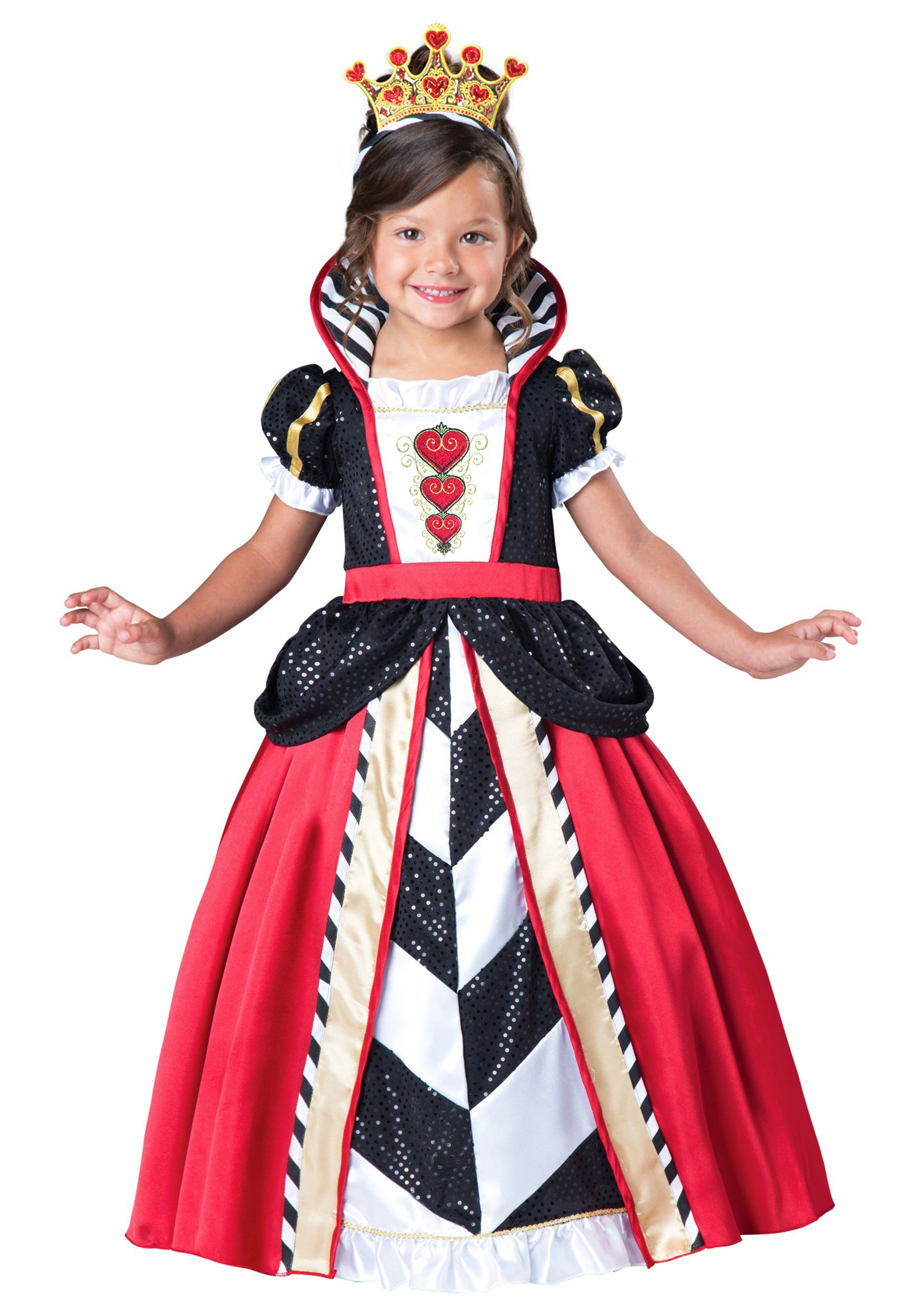 toddler girls queen of hearts costume. Black Bedroom Furniture Sets. Home Design Ideas