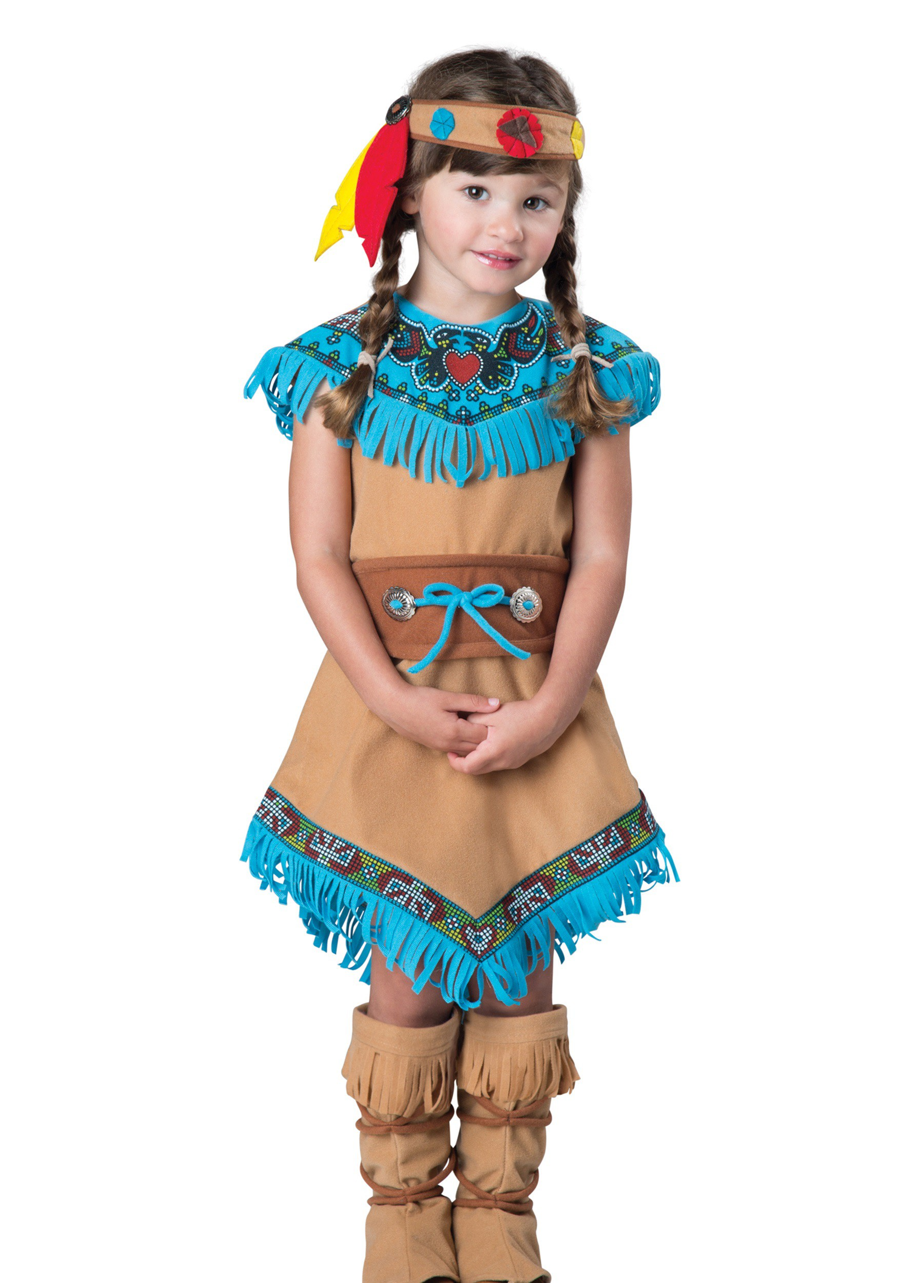 Girls Toddler Indian Costume  sc 1 st  Halloween Costumes & Girls Toddler Native American Costume
