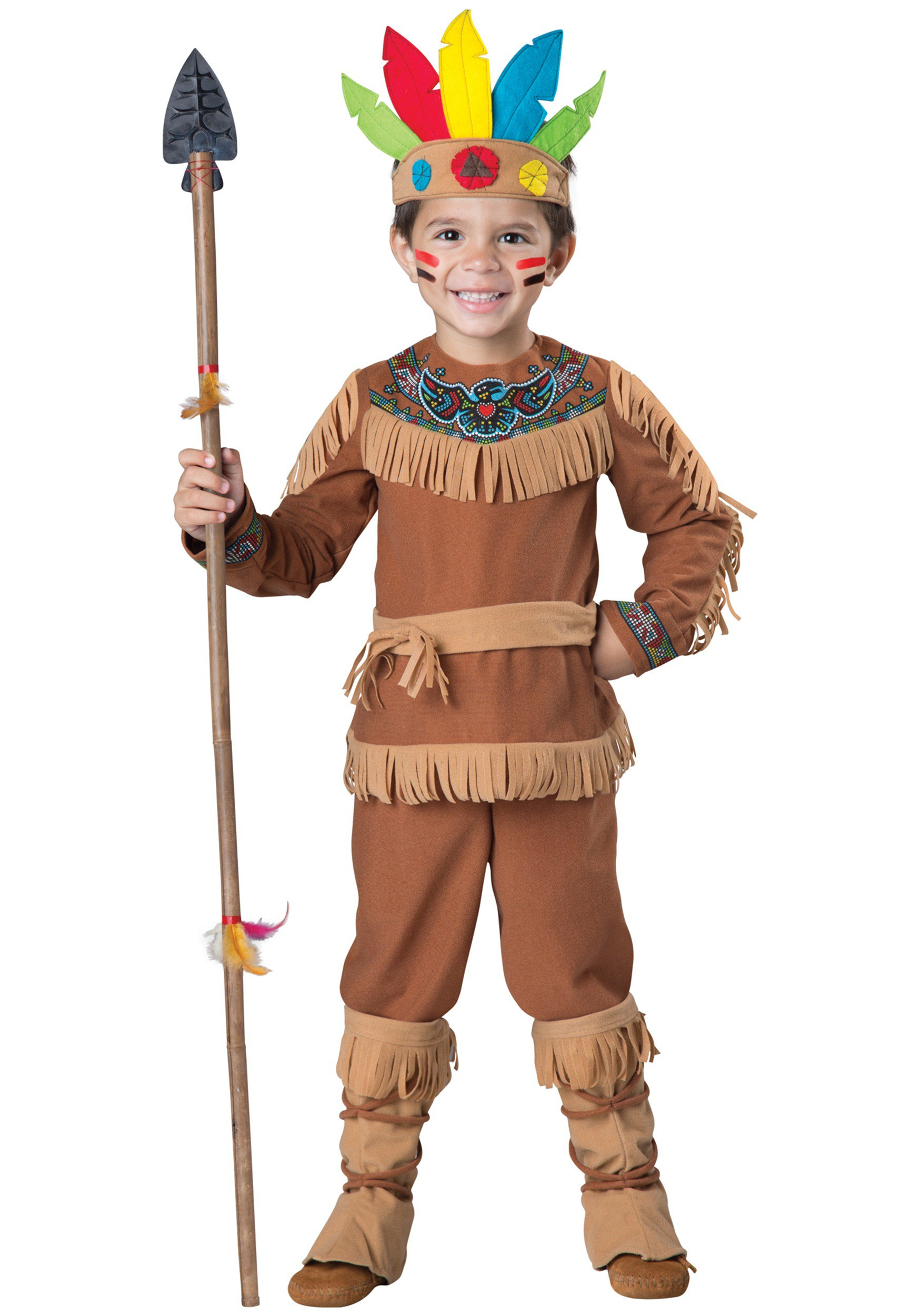 Boys Toddler Indian Costume  sc 1 st  Halloween Costumes & Boys Toddler Native American Costume