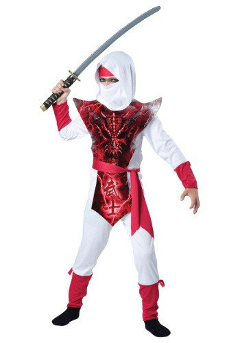 Click Here to buy Boys Ghost Ninja Costume from HalloweenCostumes, USA Funds & Shipping