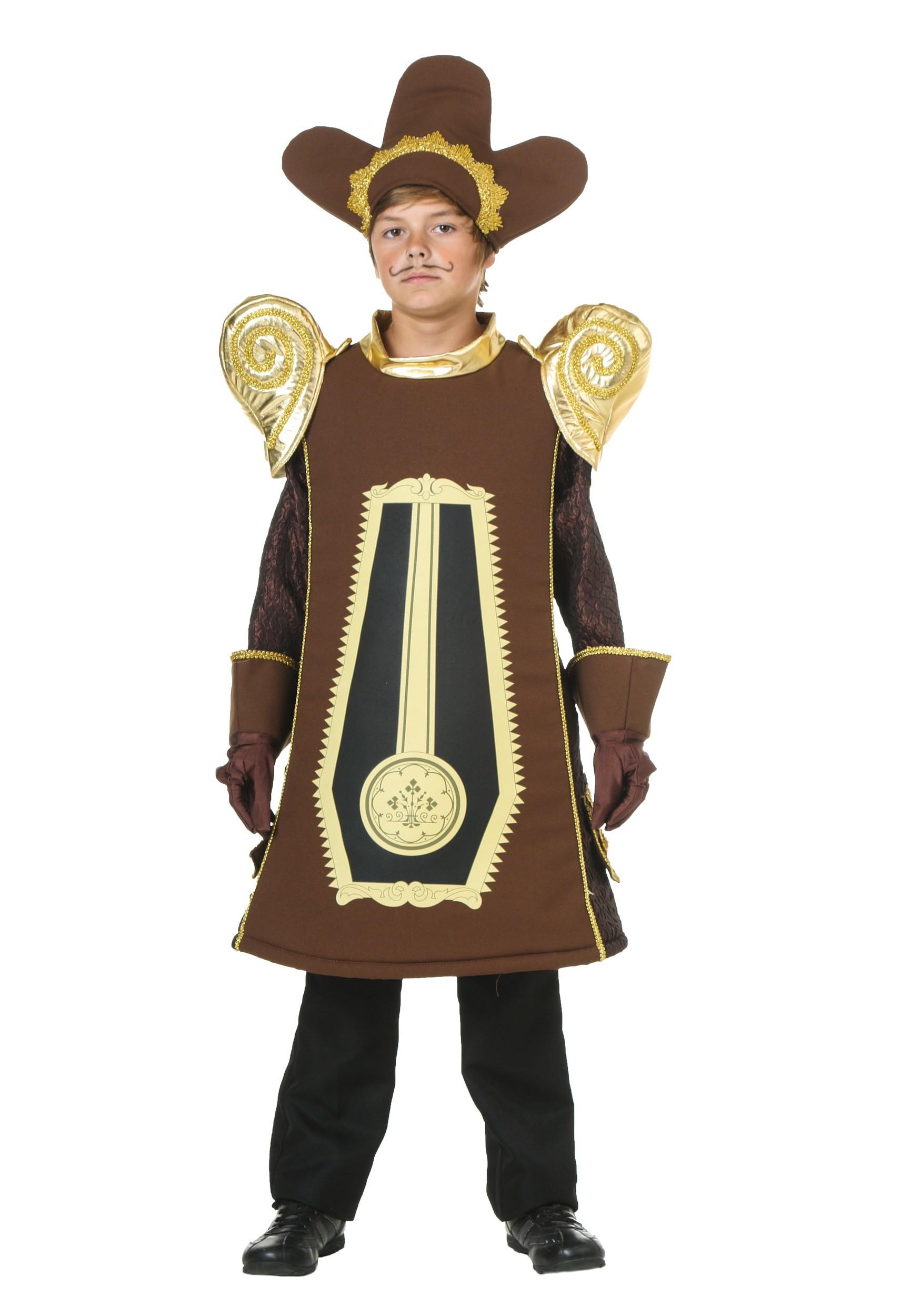 child clock costume