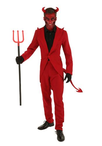 Adult Red Suit Devil Costume-Update
