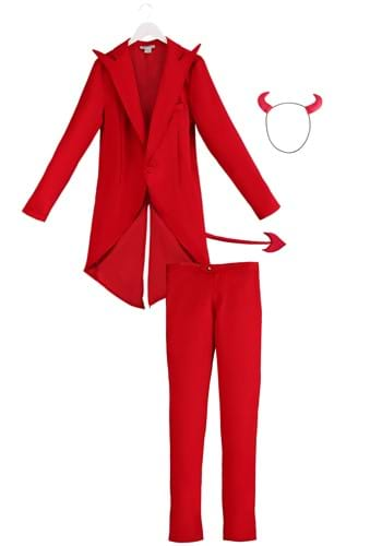 Adult Red Suit Devil Costume By: Fun Costumes for the 2015 Costume season.
