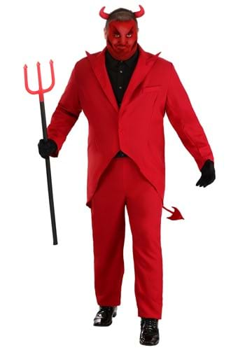 Click Here to buy Plus Size Red Suit Devil Costume from HalloweenCostumes, USA Funds & Shipping