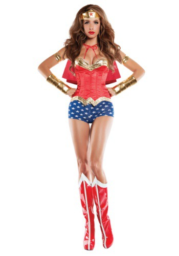 Image of Women's Corseted Wonder Lady Costume