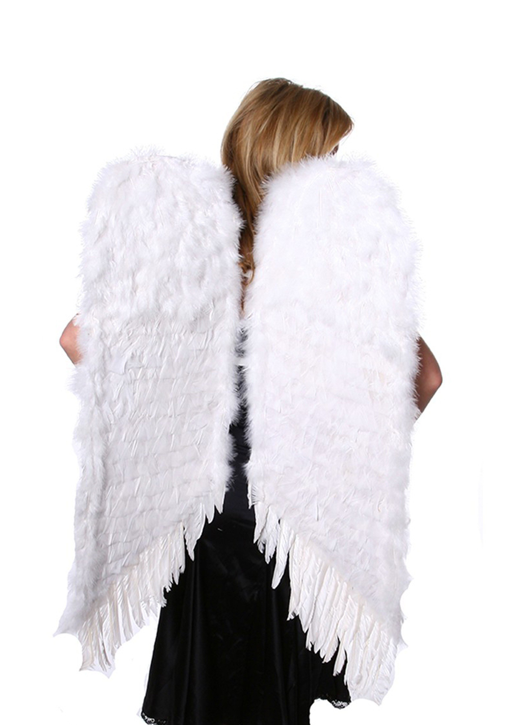 Pics Photos - Large White Feather Angel Wings