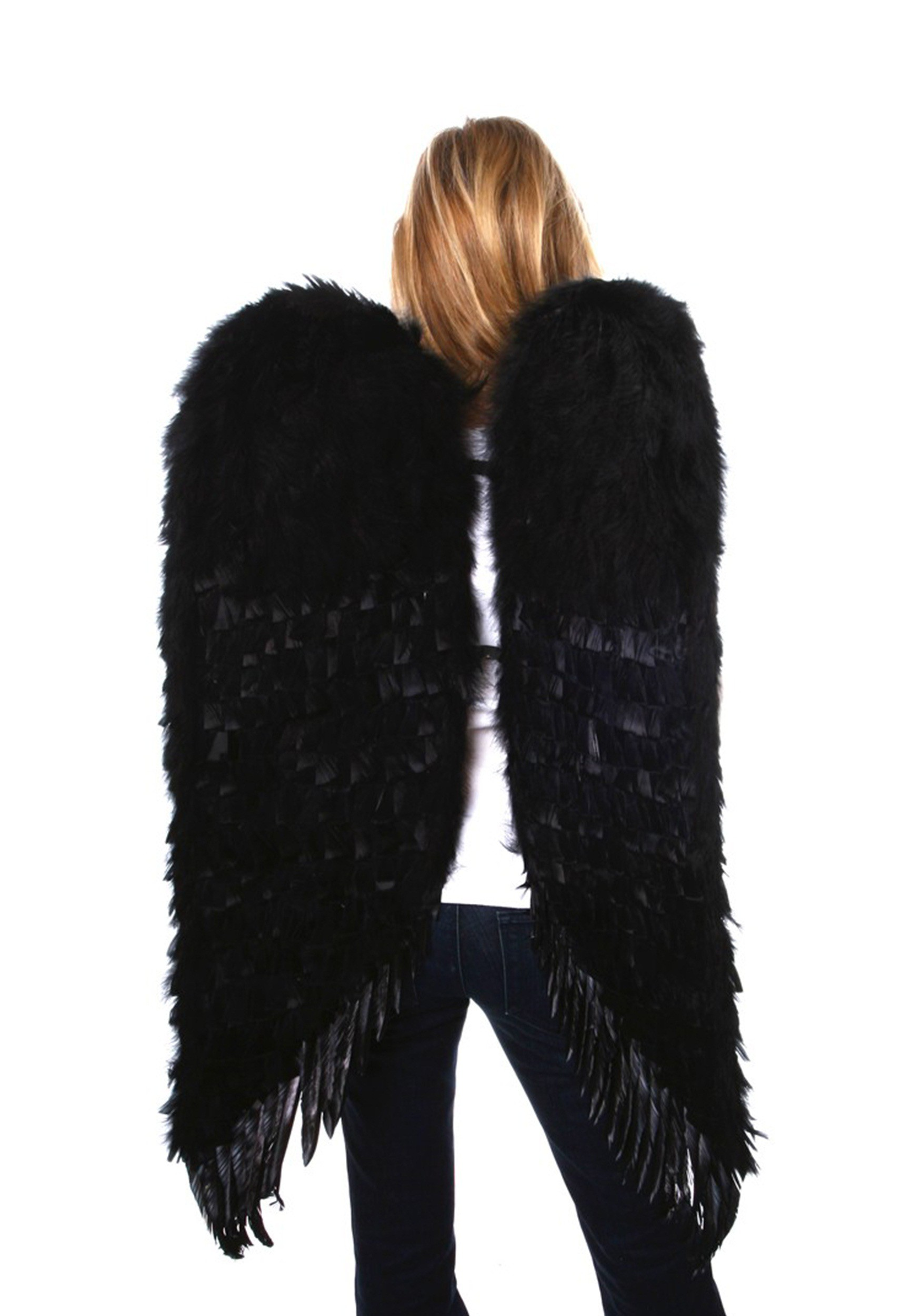Huge sized feather angel wings are five feet tall, all hand-made ...