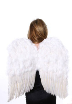 Medium White Feather Angel Wings