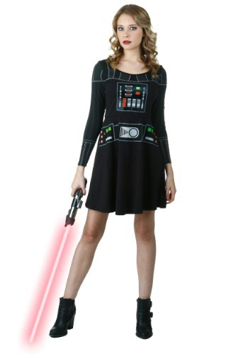 Click Here to buy I am Vader Long Sleeve Skater Dress from HalloweenCostumes, USA Funds & Shipping