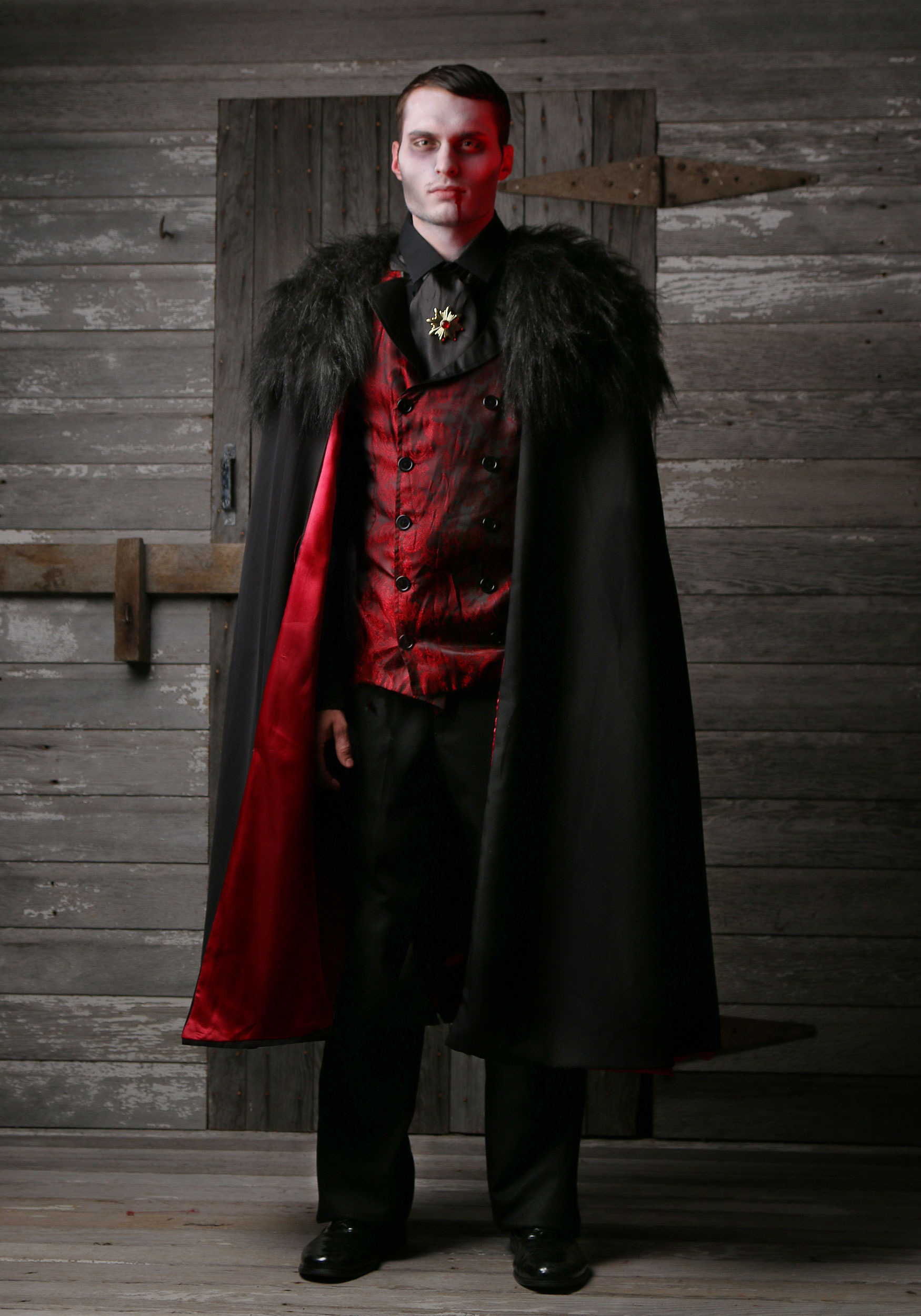 adult deluxe men 39 s vampire costume. Black Bedroom Furniture Sets. Home Design Ideas
