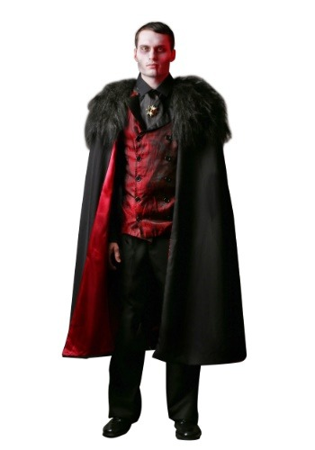 Click Here to buy Plus Size Deluxe Mens Vampire Costume 2X 3X from HalloweenCostumes, CDN Funds