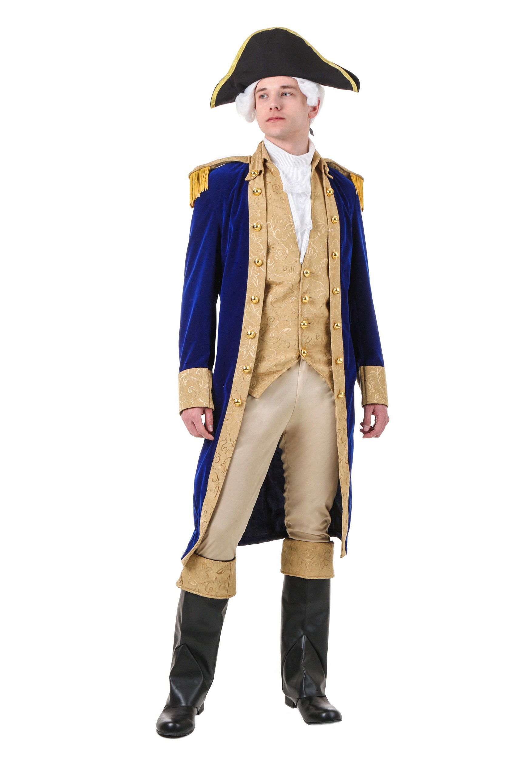 George Washington Costume Adult Colonial President Mens American Halloween NEW