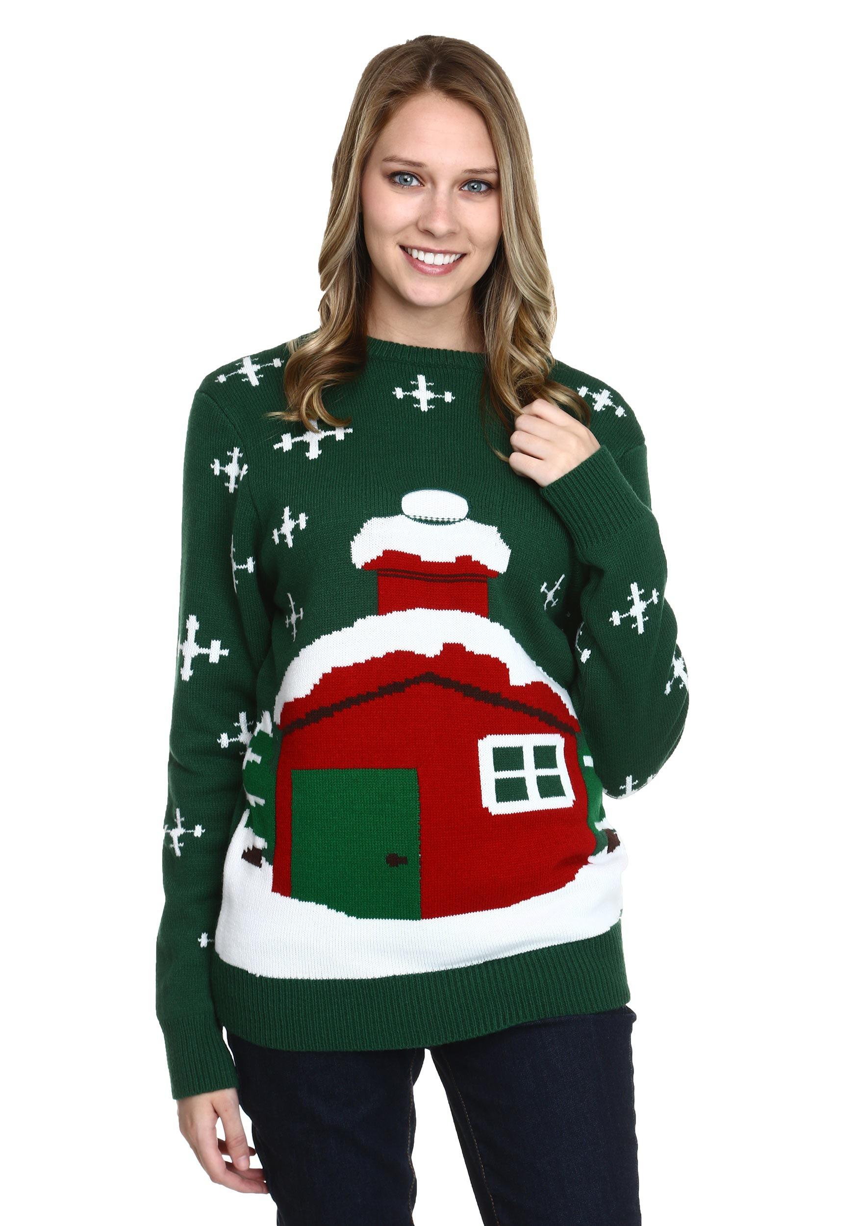 Christmas Cardigan.Stuck Santa Ugly Christmas Sweater