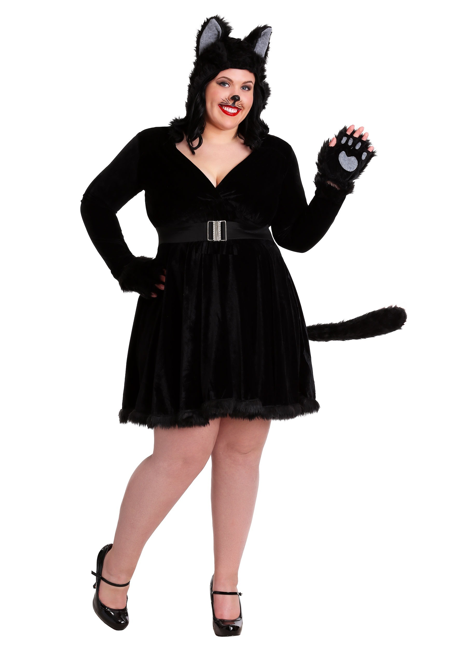 plus size women's black cat costume 1x 2x 3x 4x 5x