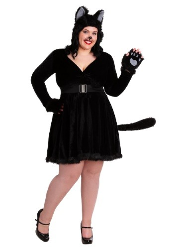 Plus Size Women's Black Cat Costume Update