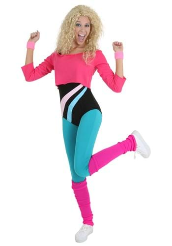 Womens 80s Workout Girl Costume
