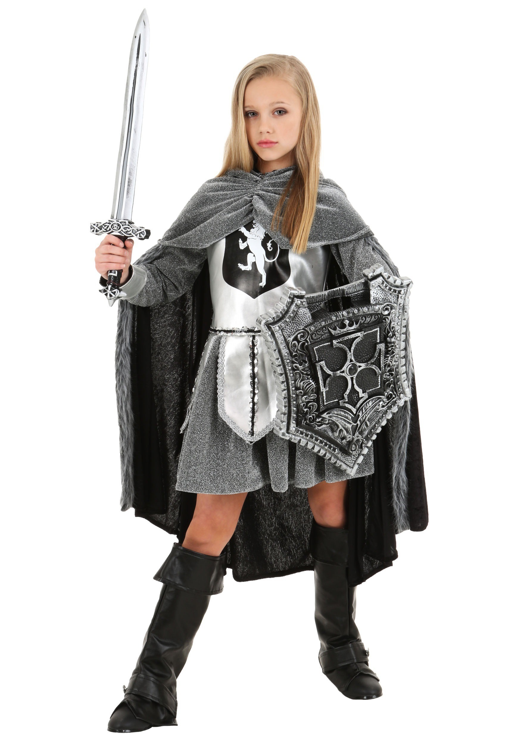 Girlu0027s Warrior Knight Costume  sc 1 st  Halloween Costumes & Child Renaissance Costumes - Childrenu0027s Renaissance Costume