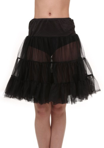 Click Here to buy Plus Size Black Knee Length Crinoline from HalloweenCostumes, USA Funds & Shipping