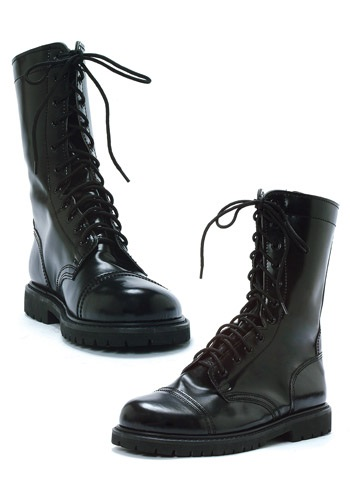 Adult Black Combat Boots By: Ellie for the 2015 Costume season.