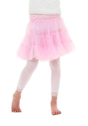 Child Pink Knee Length Crinoline