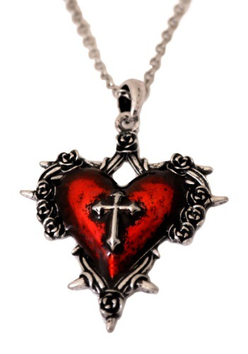 Heart Necklace w/ Cross By: Western Fashion for the 2015 Costume season.
