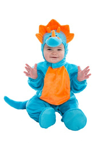 Infant Blue and Orange Dino Costume LIC091