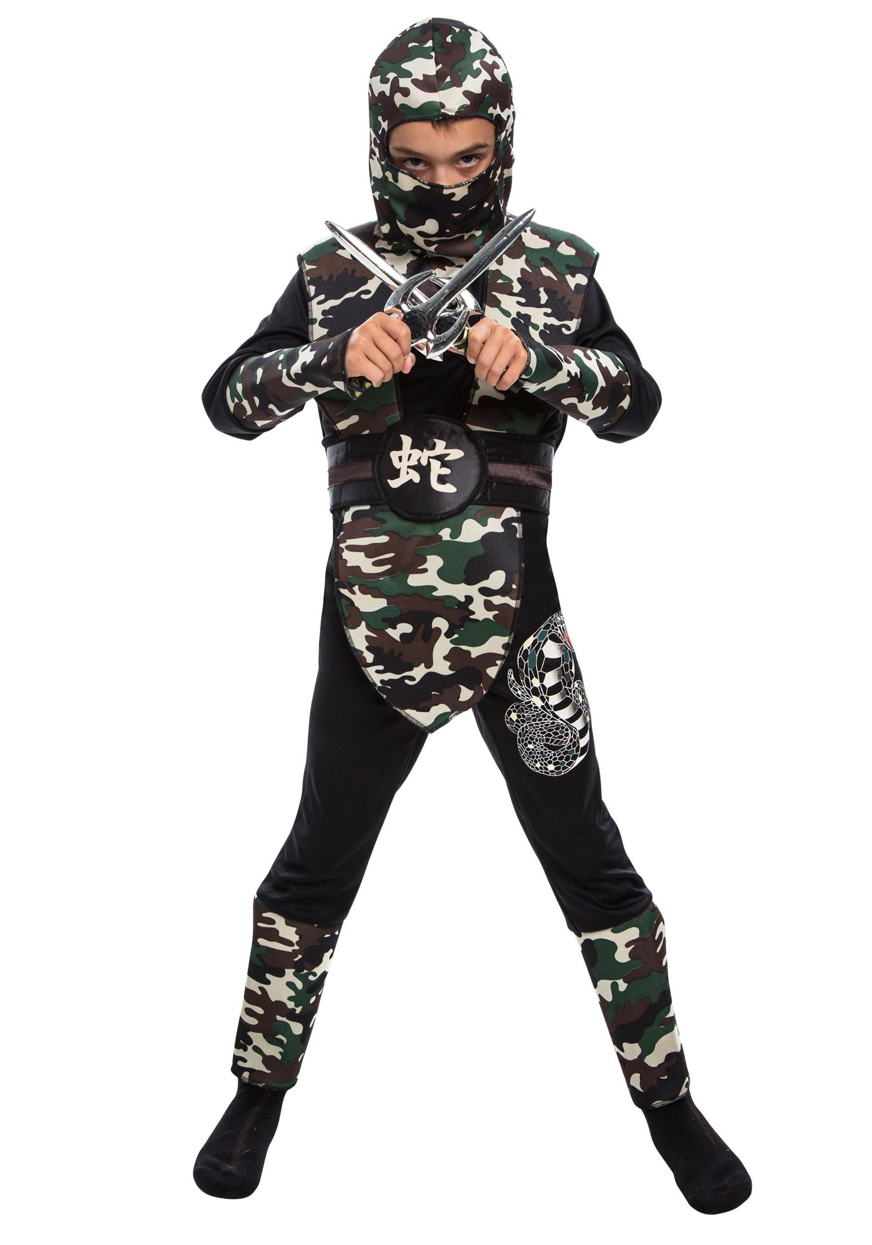 sc 1 st  Halloween Costumes & Boyu0027s Camo Ninja Costume