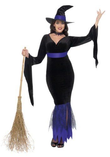 Womens Plus Size Glamorous Witch Costume