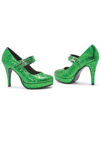 INOpets.com Anything for Pets Parents & Their Pets Green Glitter Shoes