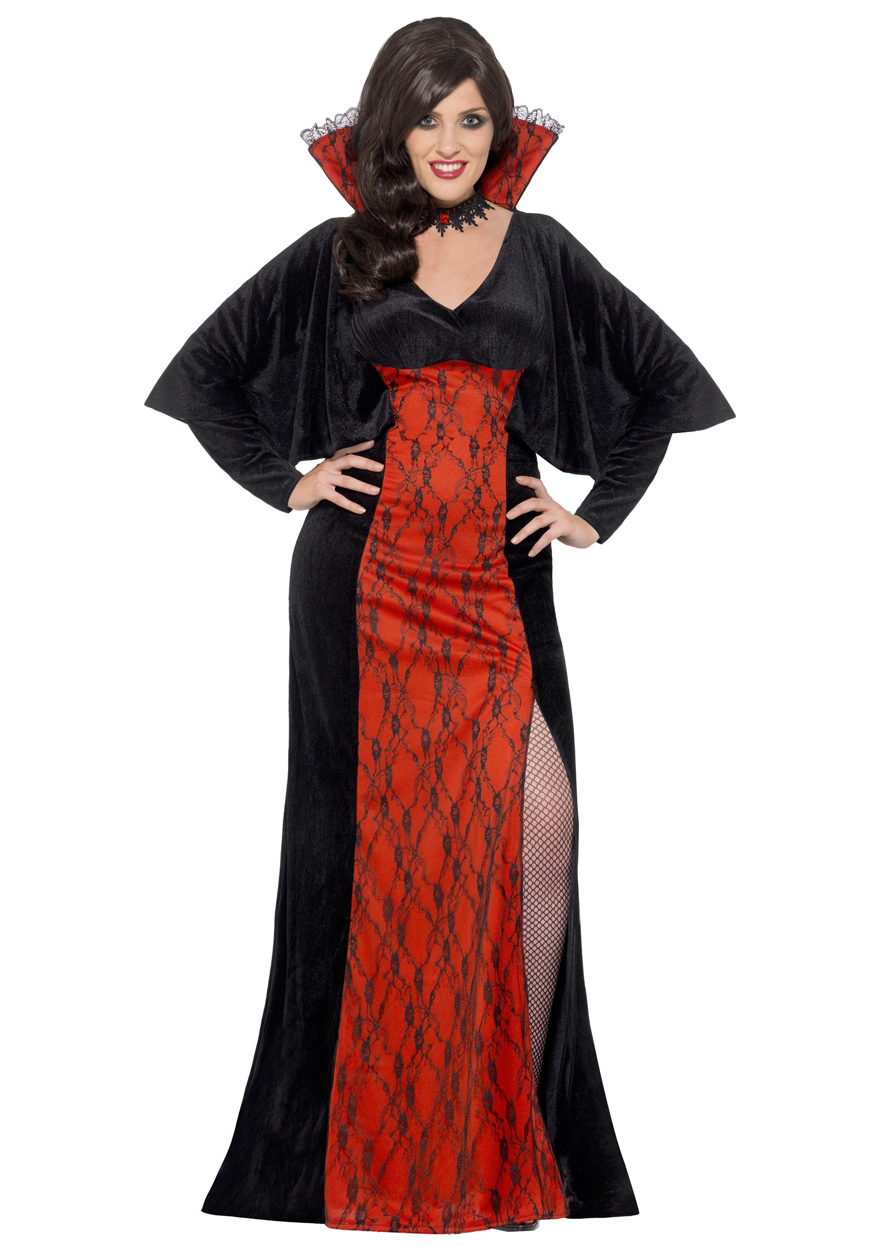 Womens Plus Size Vamp Costume