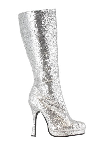 Image  Silver Glitter Boots
