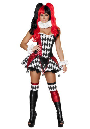 Click Here to buy Womens Court Jester Cutie Costume from HalloweenCostumes, USA Funds & Shipping