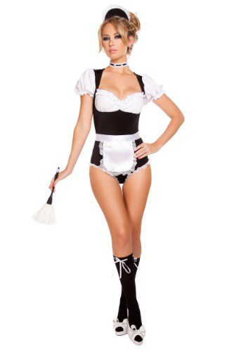 Click Here to buy Womens Foxy Cleaning Maiden Costume from HalloweenCostumes, USA Funds & Shipping