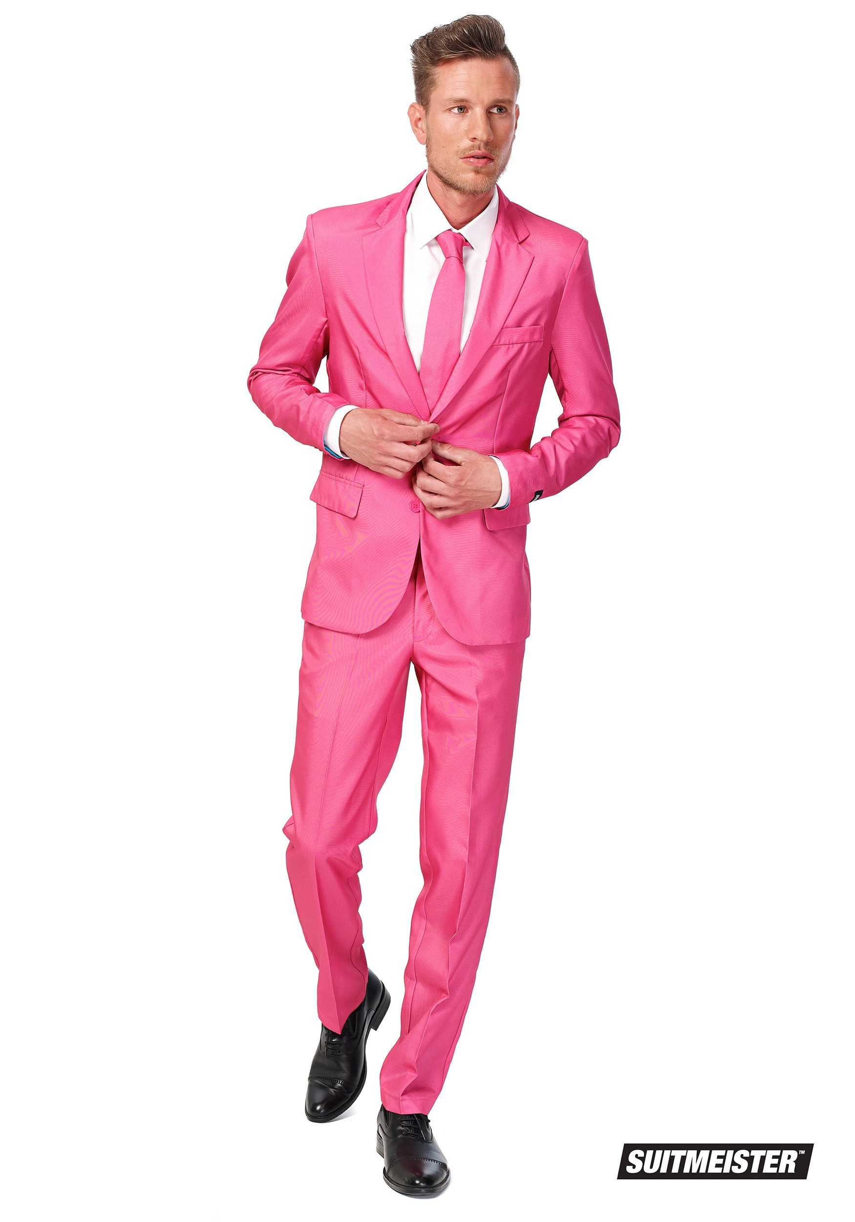 Men s suitmeister basic pink suit
