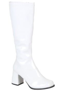 Womens White Costume Boots
