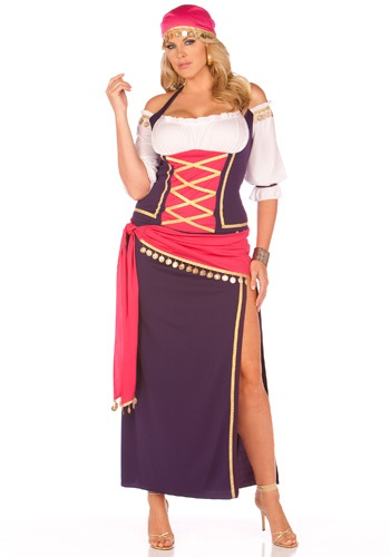 Click Here to buy Plus Gypsy Maiden Costume from HalloweenCostumes, USA Funds & Shipping