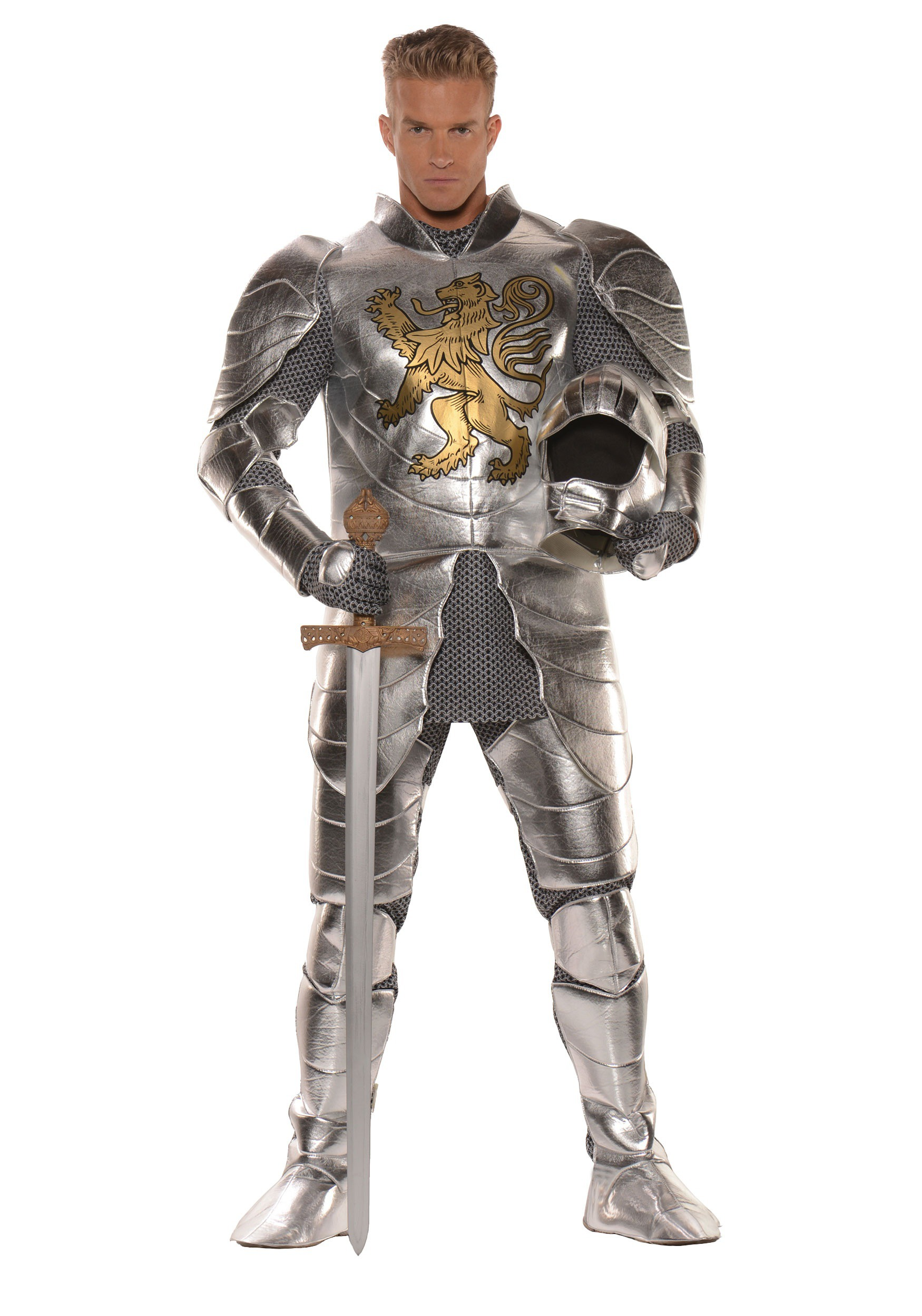 Adult mens plus size knight costume