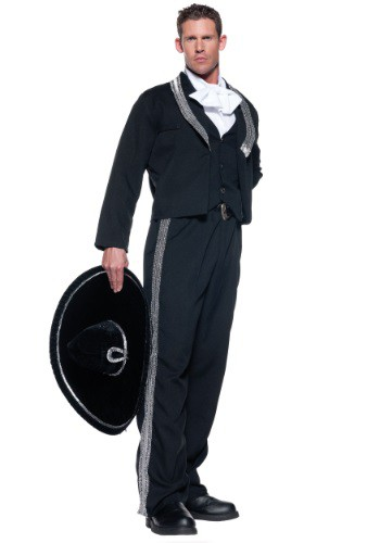 Men's Plus Size Mariachi Costume