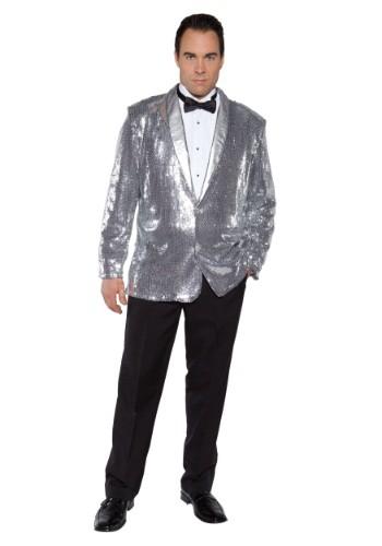 Silver Sequin Costume Jacket for Men