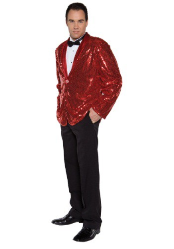 Red Sequin Costume Jacket for Men