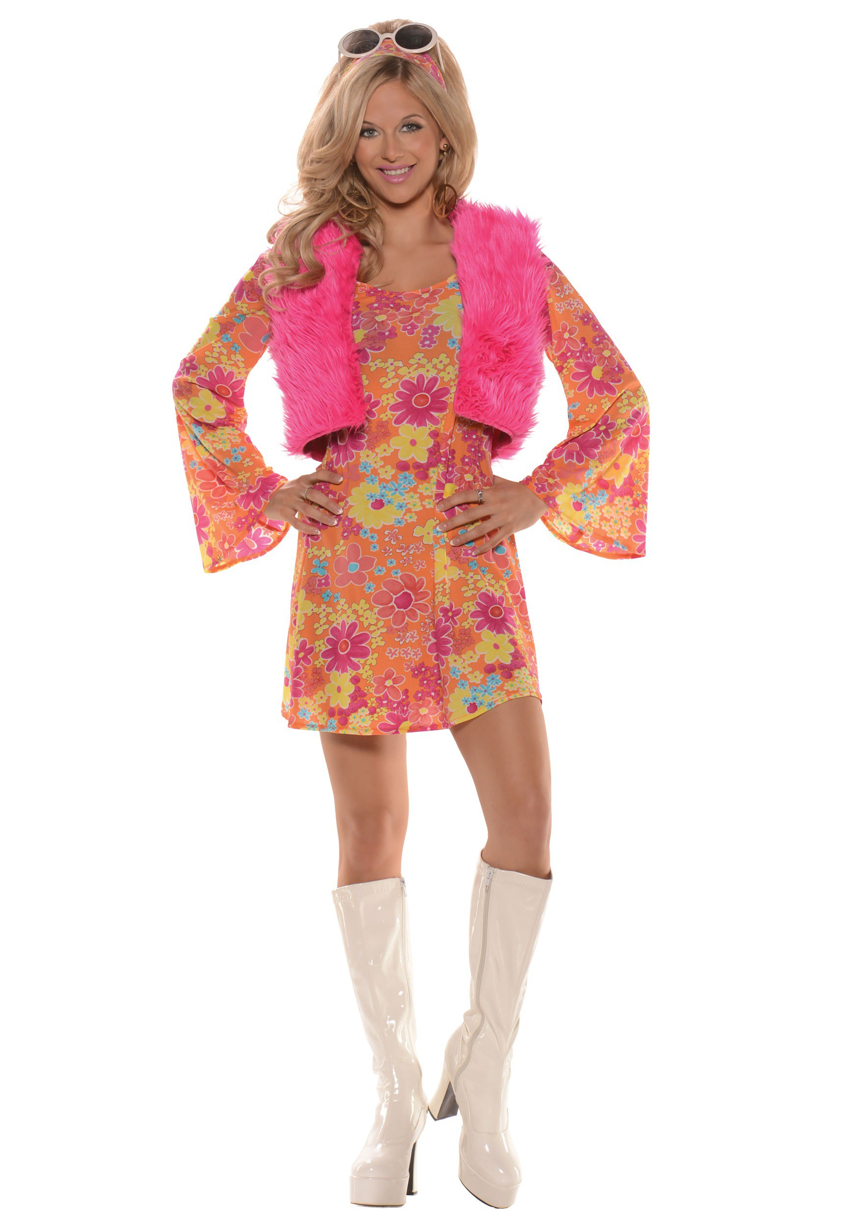 sc 1 st  Halloween Costumes & Womenu0027s Pretty in Pink 70u0027s Costume