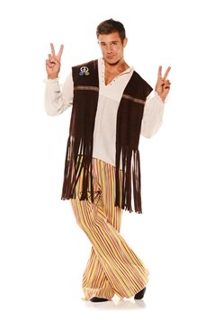 Adult Fringe Hippie Vest Costume Update Main