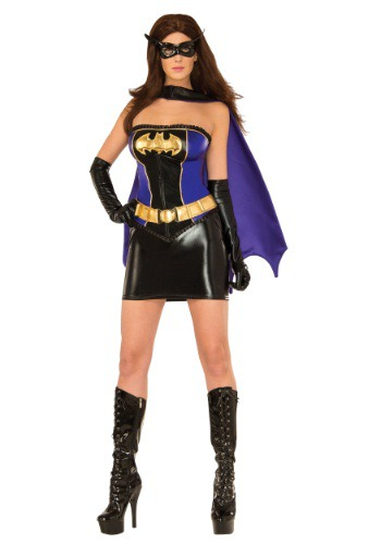 Click Here to buy Womens Deluxe Batgirl Corset Costume from HalloweenCostumes, USA Funds & Shipping